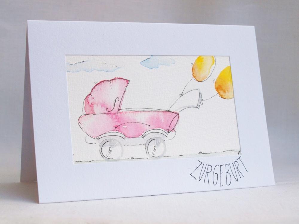 aquarell-original-unikat-kunst-postkarte-geburt-fraufranke0